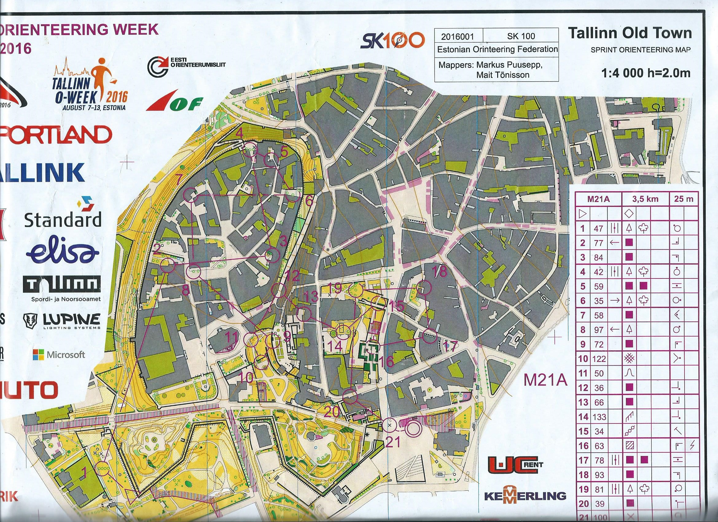 Tallinn o week e2 august 8th 2016 orienteering map from karol galicz view map without route gumiabroncs Gallery